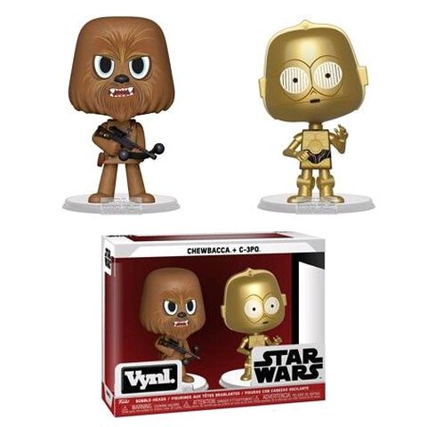 Figurine Vynl - Star Wars - Twin Pack Chewbacca et C-3PO (esb)