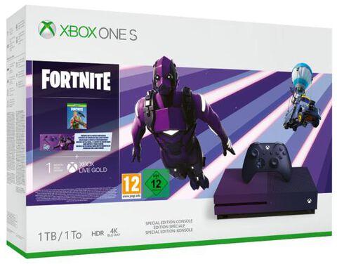 Xbox One S 1to violette édition limitée fortnite battle royale