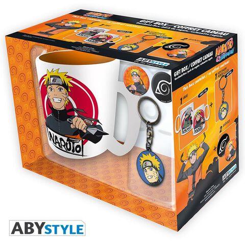 Coffret - Naruto Shippuden - Mug + Porte-clés + Badges Naruto