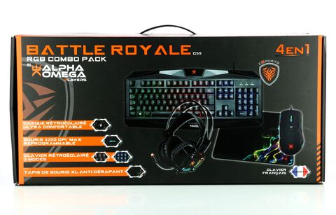 Combo 4 En 1 Battle Royale (clavier+souris+casque+tapis)