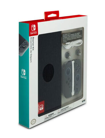 Starter Pack Licence Nintendo Gris Anthracite