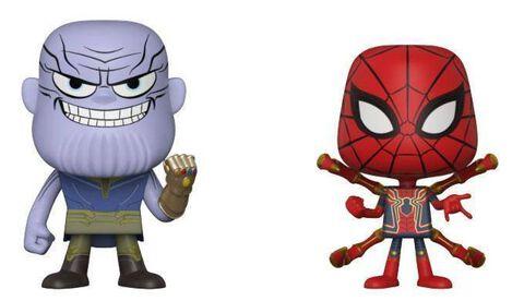 Figurine Vynl. - Avengers : Infinity War - Thanos et Iron spider