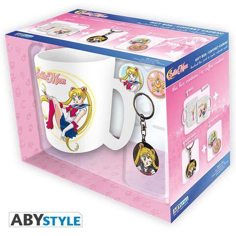 Coffret - Sailor Moon - Mug + Porte-clés + Badges Sailor Moon