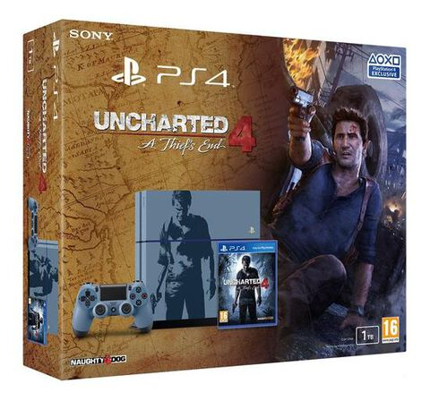 Pack PS4 1 To + Uncharted 4 : A Thief's End - Exclu Edition limitée