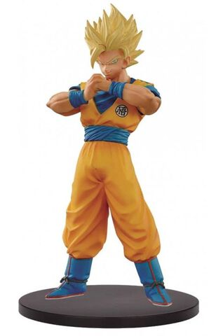 Statuette Dxf - Dragon Ball Super - The Super Warriors - Super Saiyan 2 Goku - V