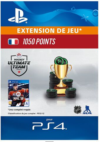 Dlc Nhl 2018 - Ultimate Team Nhl 1 050 Points Ps4