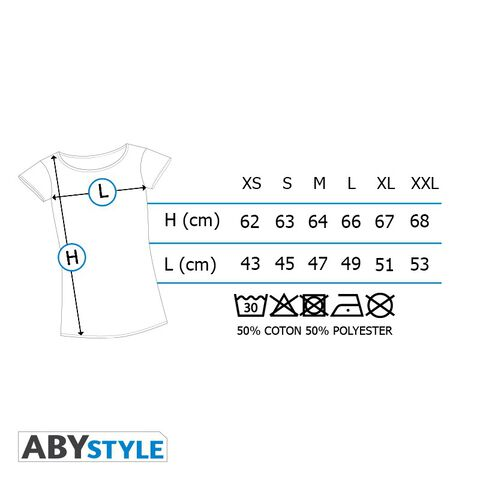 T-shirt - Harry Potter - Alumni Gris et Rouge Premium - Taille L
