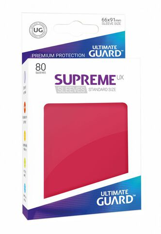 Pochette - Ultimate Guard 80 Pochettes Supreme Ux Sleeves Taille Standard Rouge