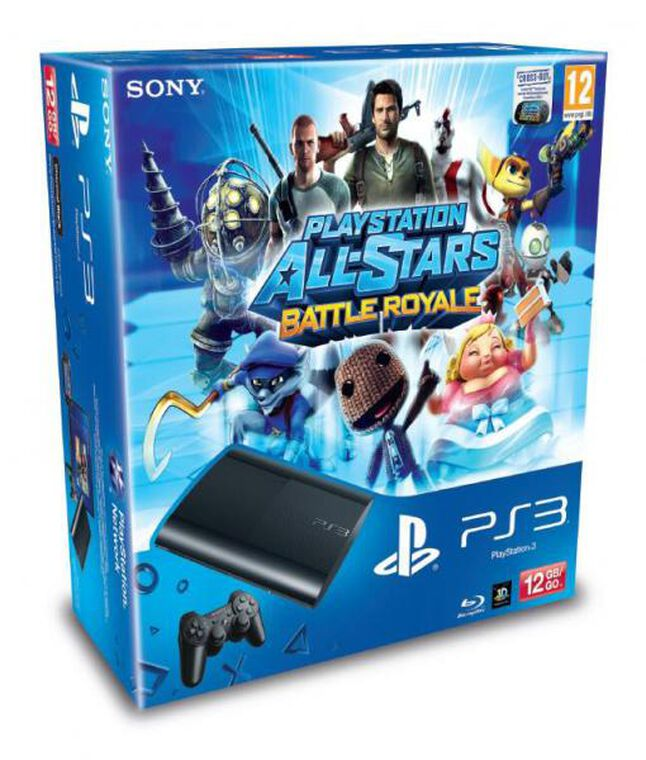 Pack Ps3 Noire 12 Go + Playstation All-stars Battle Royale