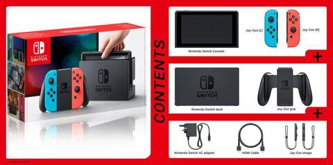 Nintendo Switch - Avec 1 Joy-Con rouge néon + 1 Joy-Con bleu néon