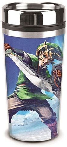 Mug de voyage - Zelda - Triforce et Link au combat