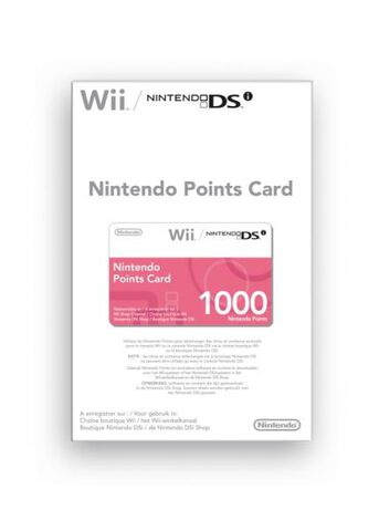 Nintendo Carte A Points (1000) Wii Et Dsi
