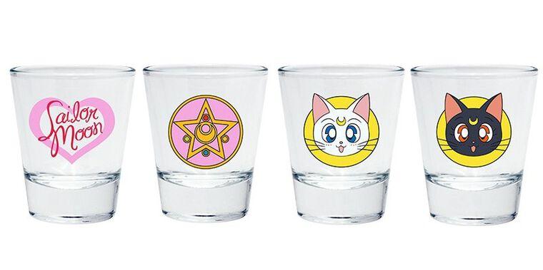 Verre à shot - Sailor Moon - Set de 4 emblèmes