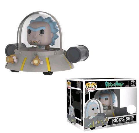 Figurine Funko Pop! Ride N°34 - Rick et Morty - Space Cruiser - 15 cm