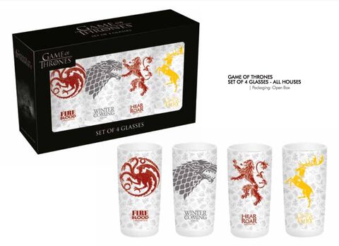 Coffret - Game Of Thrones - 4 Grands Verres Maisons