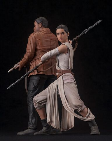 Statuettes - Star Wars Episode VII - Twin Pack Rey & Finn Artfx+