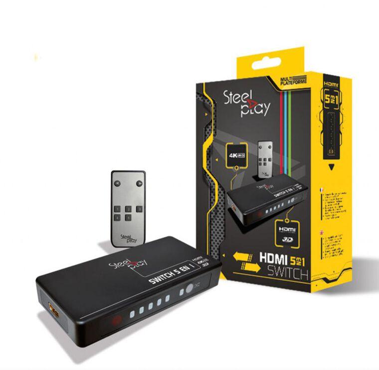 Switch HDMI - Steelplay - 5-en-1 4K