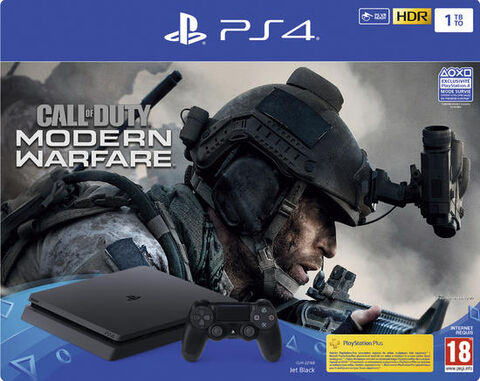 Pack PS4 Slim 1to Noire + CALL OF DUTY : Modern Warfare