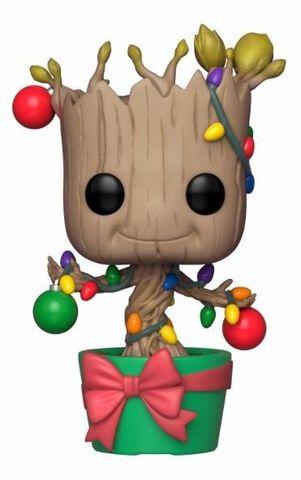 Figurine Funko Pop! N°399 - Marvel - Holiday Groot avec guirlandes et boules