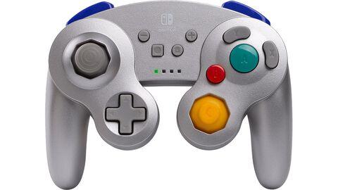 Manette sans fil - Nintendo Switch - GameCube Style Silver