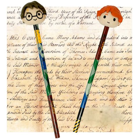 Crayons / Gommes 3D - Harry Potter - Harry Potter et Ron