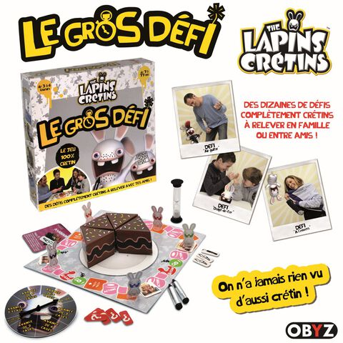 Jeu De Plateau - Lapins Cretins - Le Gros Défi