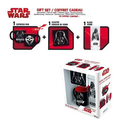 Coffret - Star Wars - Verre 29 cl + Dessous de verre + Mini Mug Dark Vador
