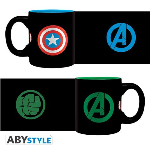 Mug - Marvel - Set de 2 Captain America et Hulk - 110 ml