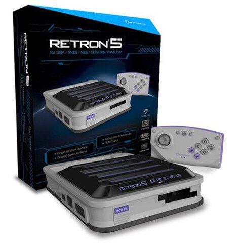 Console Retron 5 + Manette Bluetooth Grise