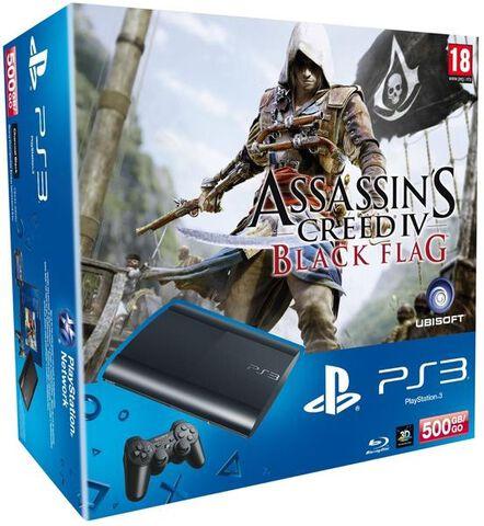 Pack Ps3 500 Go Noire + Assassin's Creed Iv: Black Flag + Voucher The Last Of Us