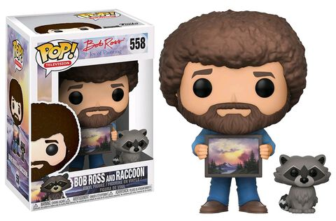 Figurine Funko Pop! N°558 - Bob Ross - Bob Ross et Raccoon