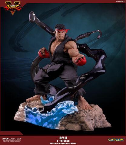 Statuette PCS Collectibles - Street Fighter V - 1/6 Ryu V-trigger Satsui No Hado