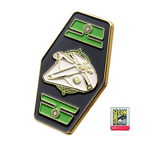 Badge - Star Wars - Carte de Jeu Sabacc Faucon Millenium Sdcc 2018