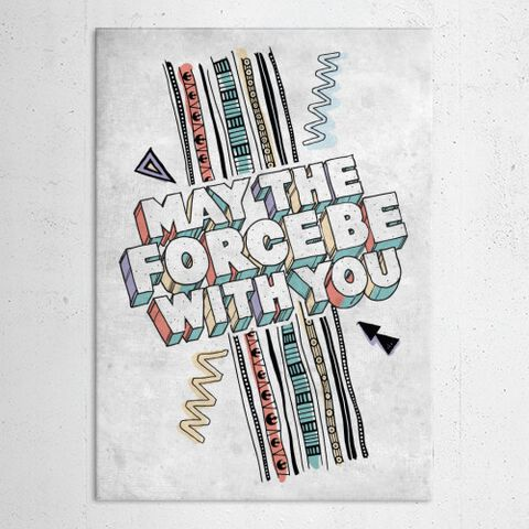 Poster Métallique - Star Wars - May The Force Be With You