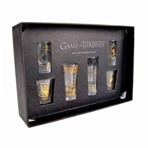 Coffret - Game of Thrones - 6 verres noirs et dorés