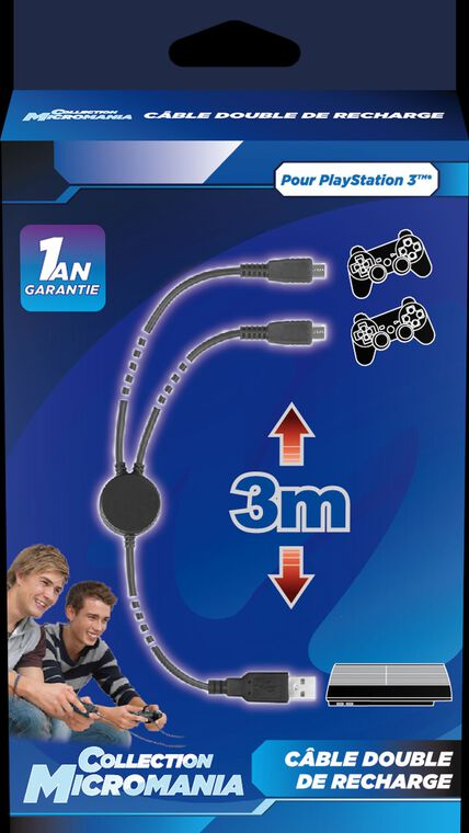 Câble double de recharge - Micromania Collection