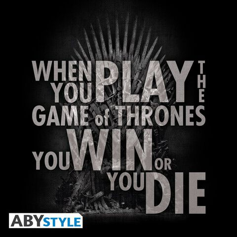 T-shirt - Game of Thrones - Citation du Trône - Taille S