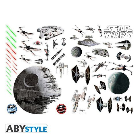 Stickers - Star Wars - 100 x 70 cm - Bataille Spatiale