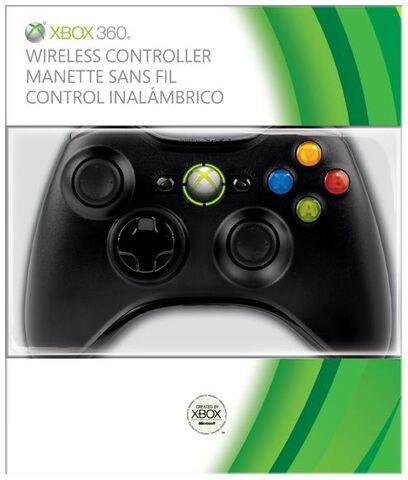 Manette sans fil noire - Xbox 360