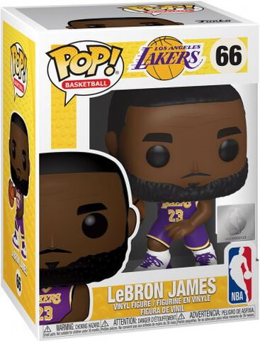 Figurine Funko Pop! N°66 - NBA - Lakers Lebron James