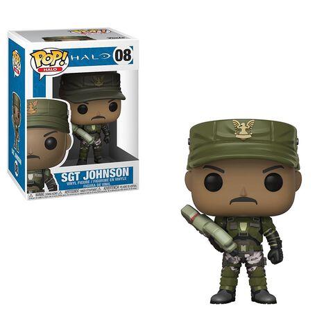 Figurine Funko Pop! N°08 - Halo - S1 Sergent Johnson (c) (avec cigare)