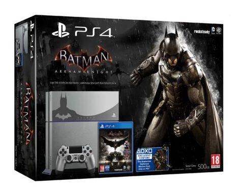 Pack PS4 500 Go Grise Edition Limitée + Batman : Arkham Knight