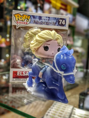 Figurine Funko Pop! Ride N°74 - La Reine Des Neiges 2 - Elsa Sur Nokk