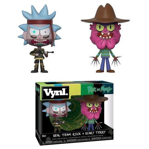 Figurine Vynl - Rick et Morty - Twin Pack Seal Rick et Terry Le Terrifiant