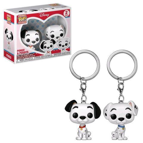 Porte-clés - Les 101 Dalmatiens - Twin Pack Pongo et Perdita