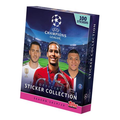 Stickers - Uefa Champions League - Mega Booster Box 100 Stickers 2019/2020