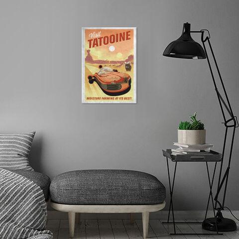 Poster Metallique - Star Wars - Visit Tatooine