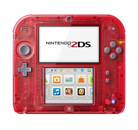 Nintendo 2DS Rouge Transparent - Occasion