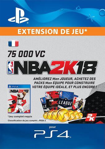 Dlc NBA 2k18 75.000 Vc