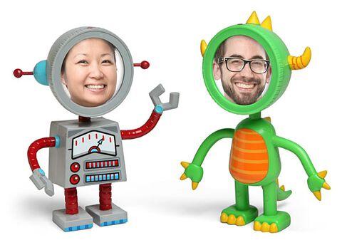 Cadre Photo - Thinkgeek - Robot Et Monstre